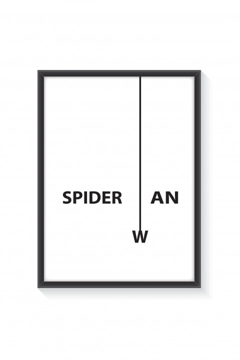 Poster with frame Spiderman