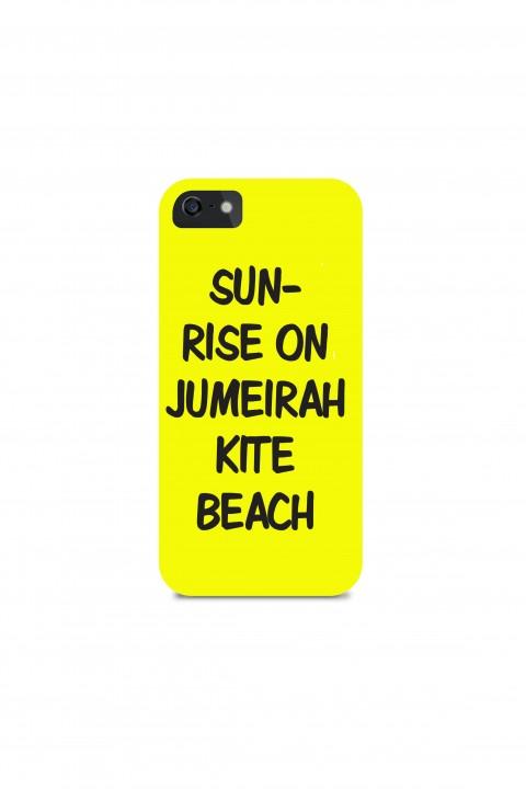 Phone case Sunrise on Jumeirah kite Beach