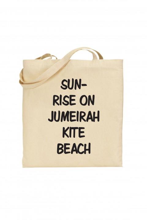Tote bag Sunrise on Jumeirah kite Beach