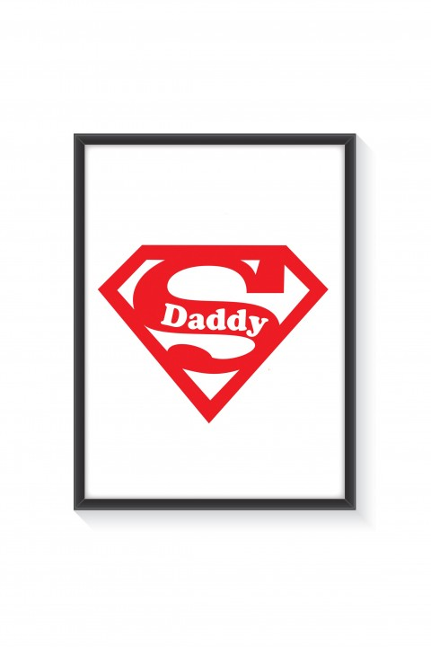 Poster with frame Super Daddy
