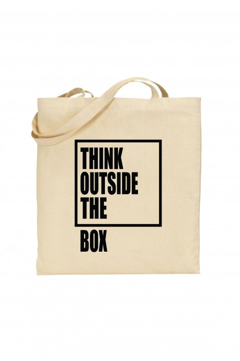 Tote bag Think Outside The Box