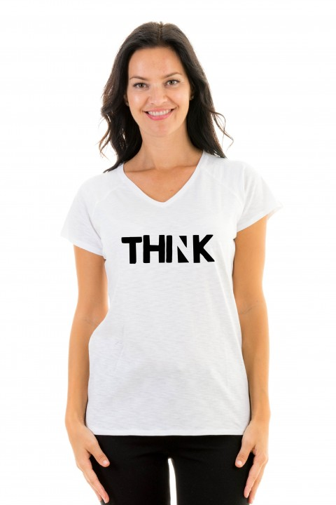 T-shirt v-neck THINK