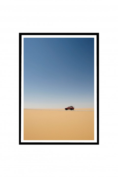 Poster with frame White Desert - Egypt By Emmanuel Catteau