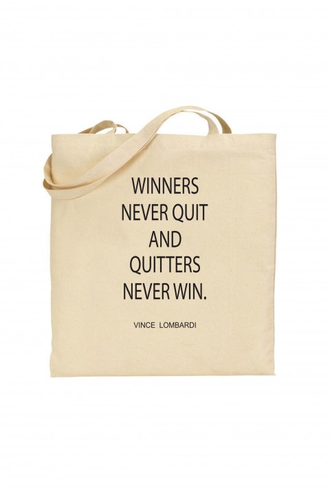 Tote bag Winners Never Quit
