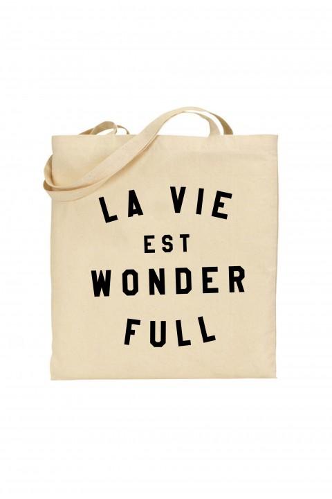 Tote bag La vie est wonderfull
