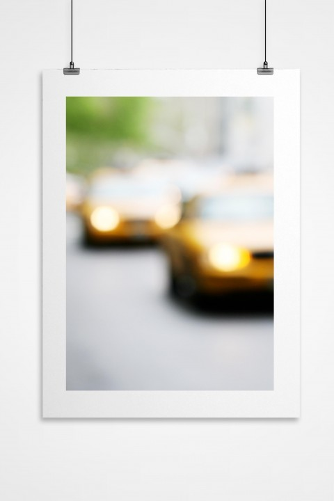 Poster Yellow Cab - New-York City - By Emmanuel Catteau