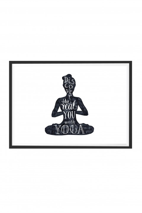 Poster with frame Yoga